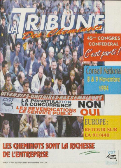 Couverture de la Tribune des cheminots 717