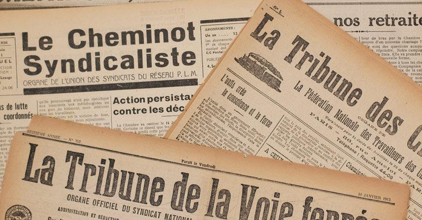 Couvertures d'anciens journaux