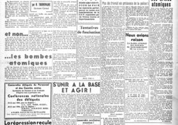 Couverture du premier numéro de La Tribune des Cheminots