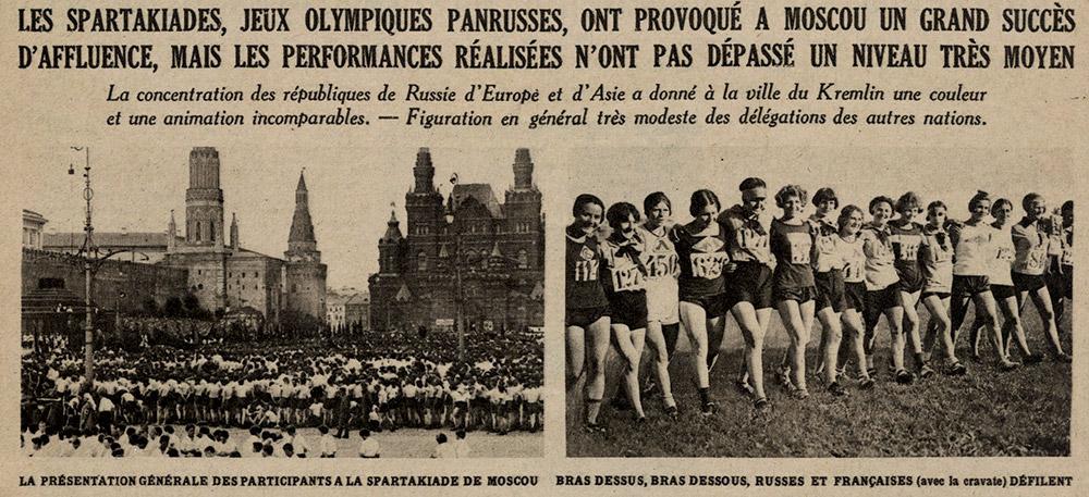 Photos : Extrait du Miroir des sports, 4 septembre 1928. Sources : gallica.bnf.fr